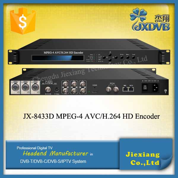 IPTV Streaming H.264 HD Encoder/CBR VBR Video Encoding ASI Encoder