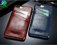 High-quality leather PU phone case cover for iphone6/6plus/7/7plus with reserved plug hole
