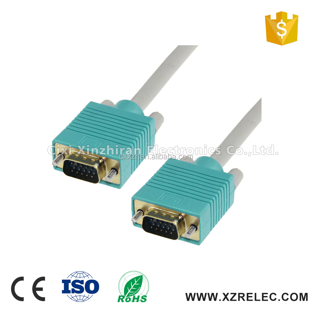High quality 15 pin vga cable 15m for TV computer monitor cable