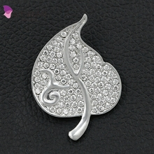 Weiman New arrival Rhinestone Leaf Brooch Pin Costume Jewelry For Women 9 brooch for Thailand