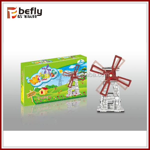 DIY model windmill educational solar toy