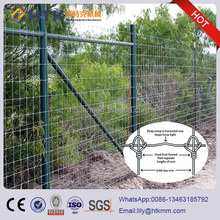 2.0meter high tensile fixed knot deer fence, steel field farm fence