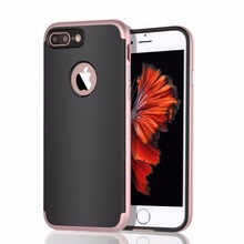 2 in 1 carbon fiber shockproof mobile case for huawei p10 lite anti shock tpu pc hybrid material phone case cover