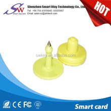 hot sale 125KHz/13.56MHz TPU ABS RFID Animal Ear Tag