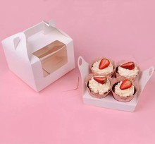 Portable Strawberry baking packaging Cake Box