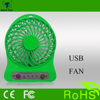colorful table handle usb portable rechargeable fan with USB and lithium battery