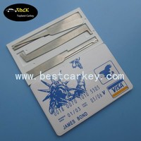 Low Price James Bond Credit Card lock pick set locksmith tools locksmith tools lock pick set