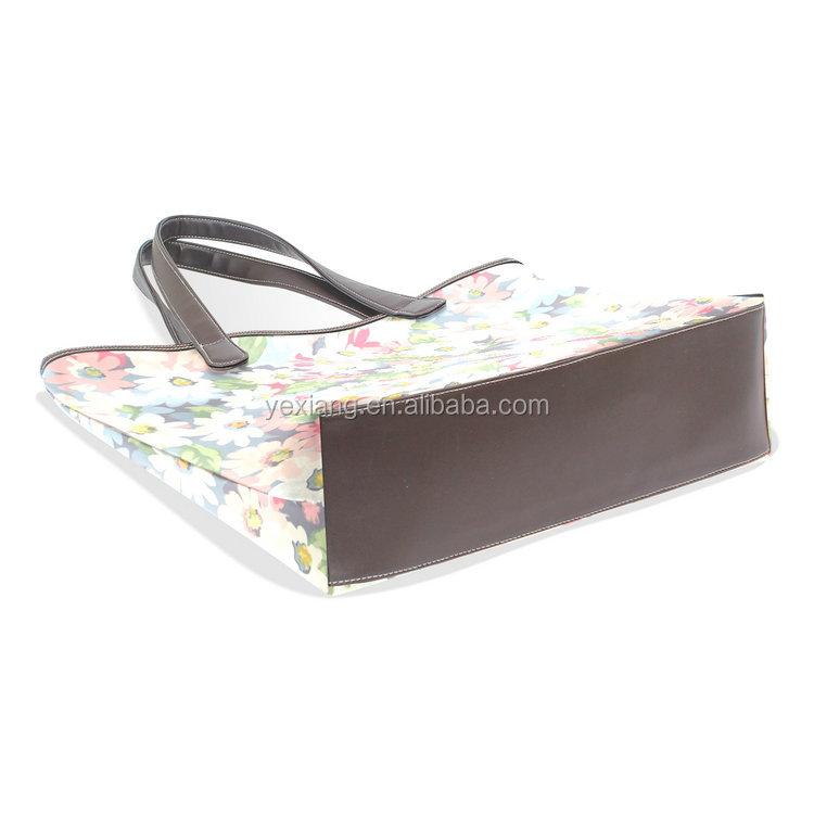 Flower Design Women Handbag Tote Bag with Shoulder Bag