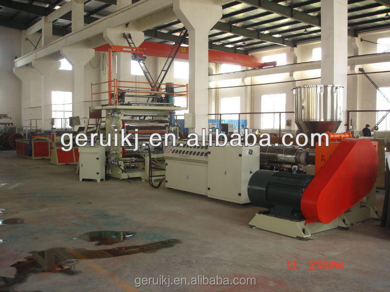 Professional New and recycled Plastic extrusion HD LD PE sheet production line