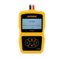 AUTOOL BT360 Diagnostic Tool Car Battery Tester 12V Digital Analyzer 2000CCA 220AH Multi-Languages BAD Cell Test Car Tools