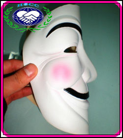 China Manufacturer White halloween rubber latex mask V for Vendetta Masks Anonymous Guy Fawkes Mask