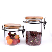 China wholesale healthy glass spice jar with clamp lid