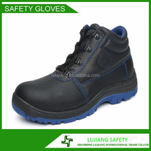 LUJIANG SAFETY split leahter dual pu injection stylish safety shoes with air holes canada