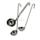 hot sale stainless steel long handle one-piece soup ladles measuring ladle with hook