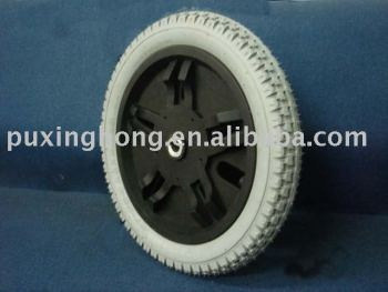 solid pu filled foamed tyre wheel