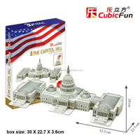 The Capitol Hill (USA) architecture model 3d paper puzzle