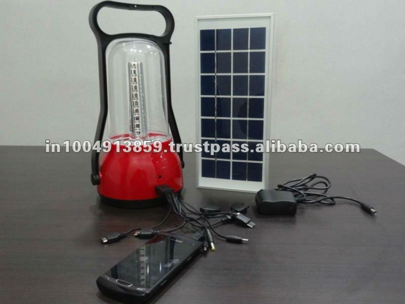 Camping solar mobile charger with lamp