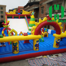 Best selling!!! Air bouncer inflatable trampoline, inflatable rabbit bouncy castle