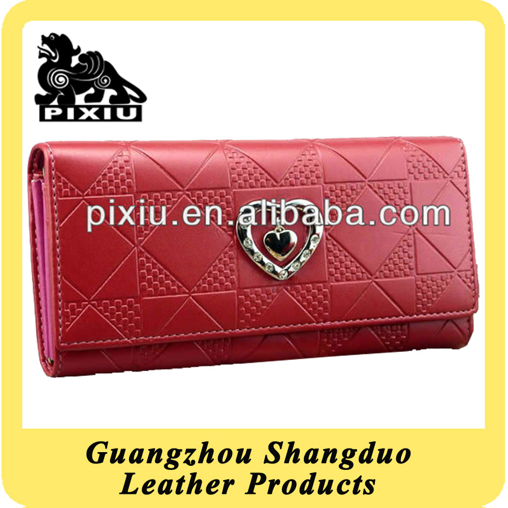 China Factory Competitive Price Fashion PU Ladies Wallet Case
