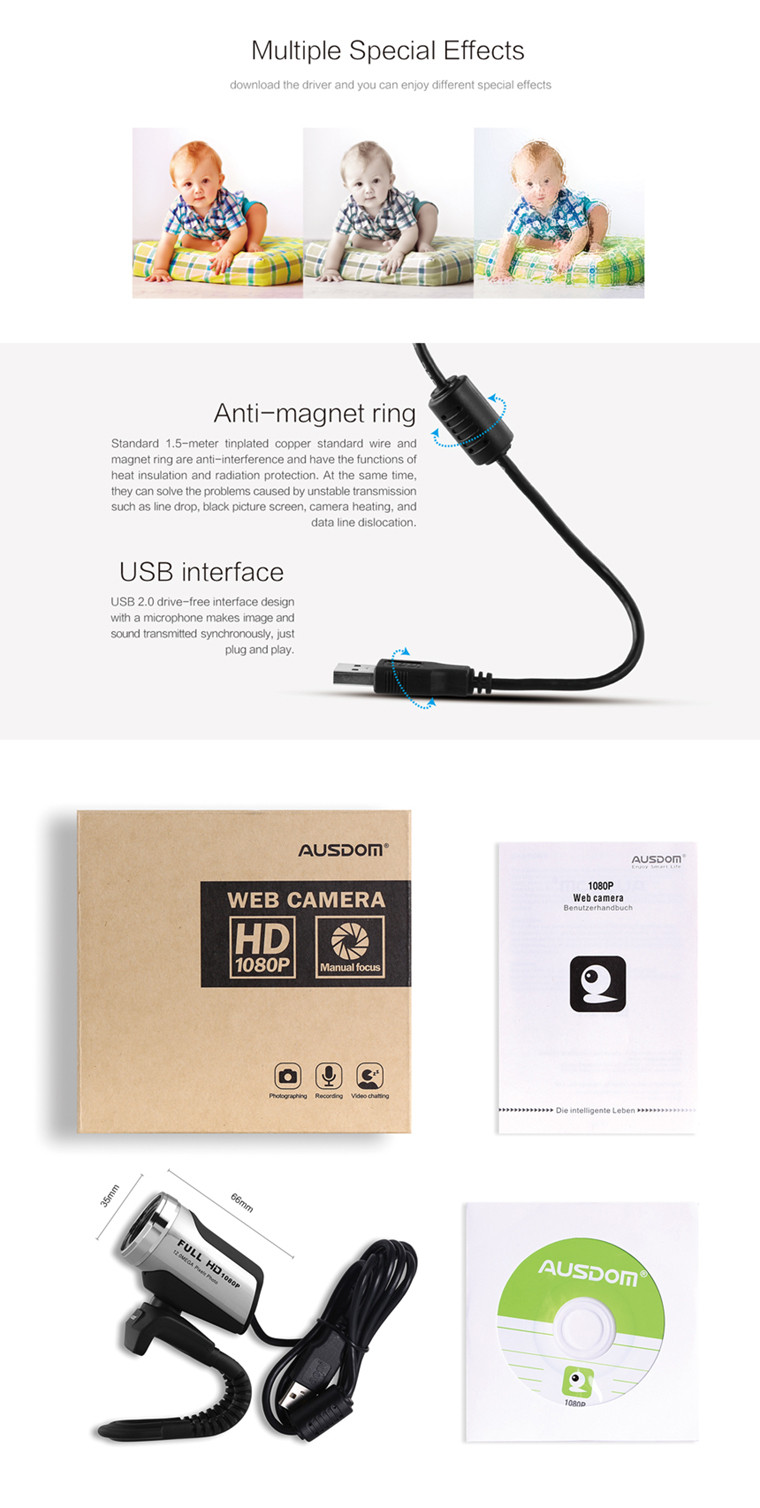 Factory Wholesale CMOS Free Driver usb 2.0 pc web camera computer pc with mic for desktop/laptop