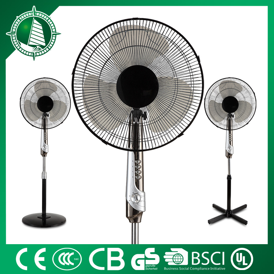"12"" Promotion industrial outdoor pedestal fan with 2.5kg round base"