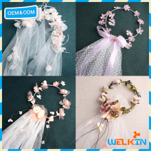 Veil Flower Headband Boho in Hairbands, Party veils in Bridal Veils, Flower Crown Headband the Tiara Cheap China Factory Price
