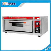 Brick oven pizza ovens sale one layer two plate commercial gas pizza oven with lower price
