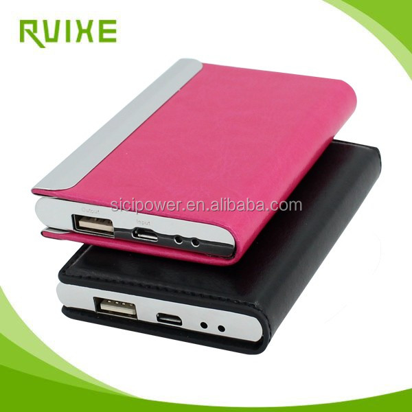 Free samples 3000mAh PU leather battery charger usb online
