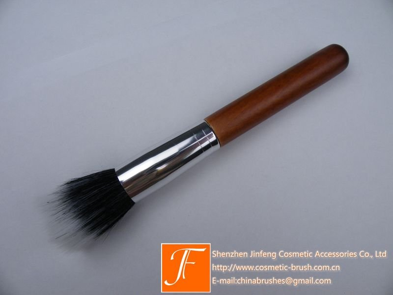 Nylon Hair and Wood Handle Makeup Powder Brush