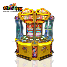 Qingfeng carton fair coin operated Push coin doll gift prize vending game machine toy crane machine