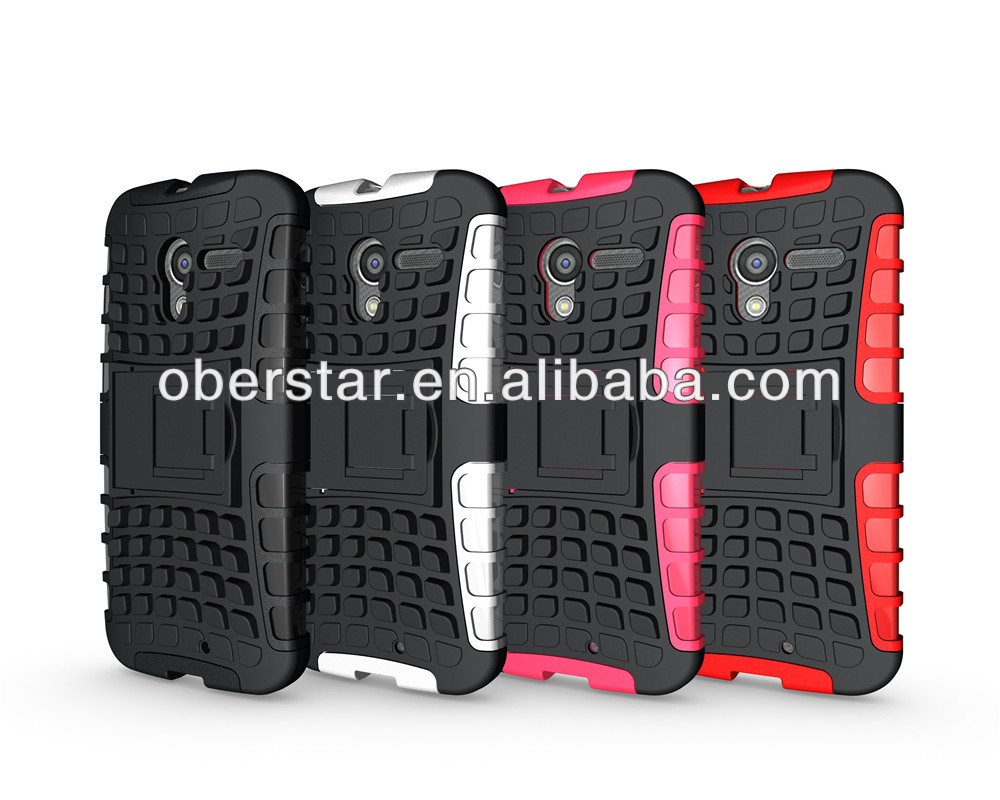 for <strong>Motorola</strong> Moto X Heavy Duty Armor <strong>Shock</strong> Hybrid Armour Case Stand Cover