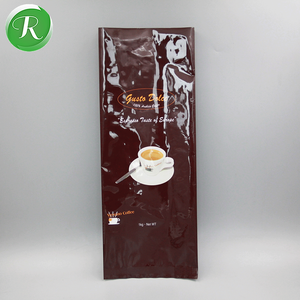 1 Kg side gusset plastic laminated materials coffee bean packing bag with air valve and tin tie