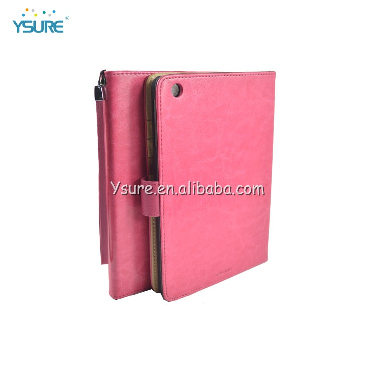 Luxury book style fashion leather case for ipad mini 2