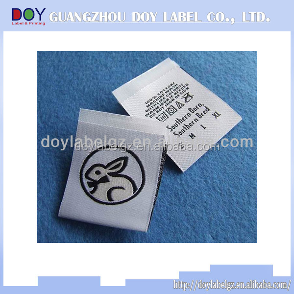 damask clothings woven label garment label trade mark neck label tag