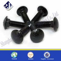 black oxide carriage bolts mushroom head screw carriage bolt washer