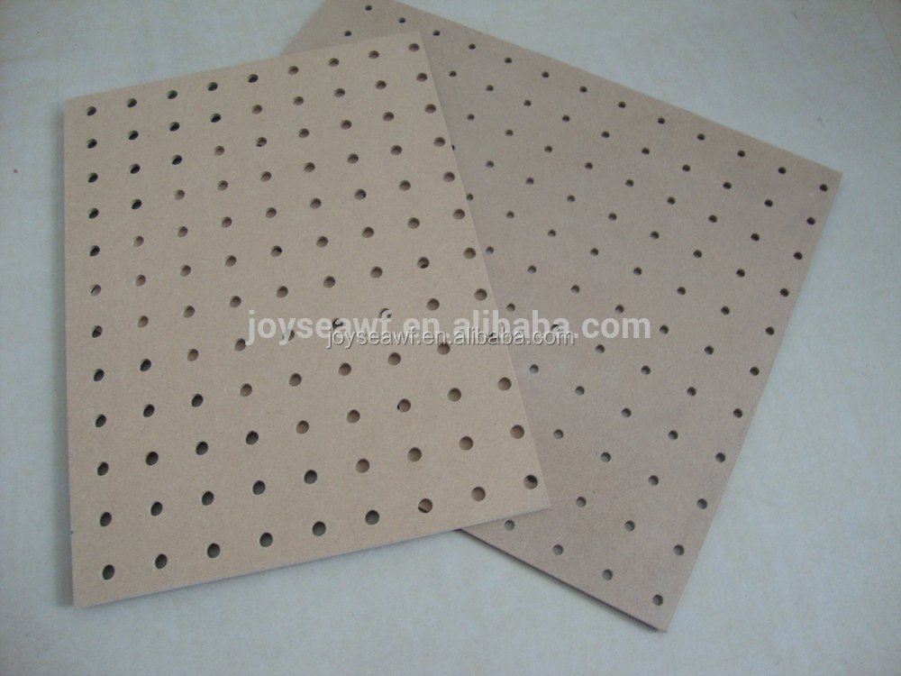Hole Board Perforated Mdf Wood Wall Board Melamine And Raw