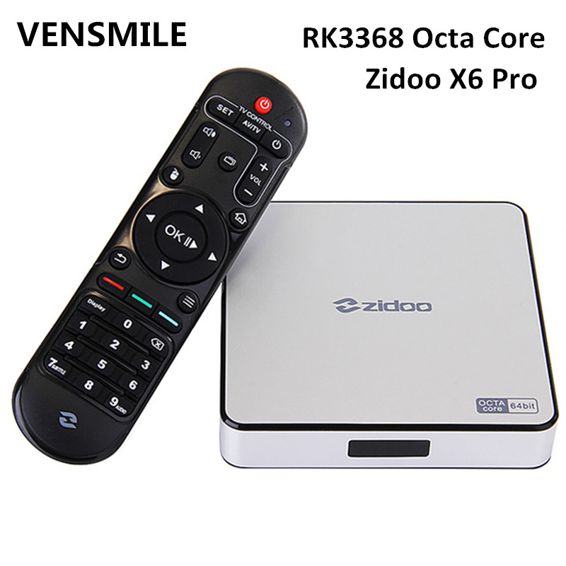 Vensmile Zidoo X6 Pro Android 5.1Smart tv box RK3368 Octa Core android tv box Zidoo X6 Pro for rk3368 tv box