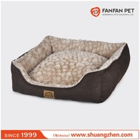 Faux suede fabric luxury dog bed royal cama perro