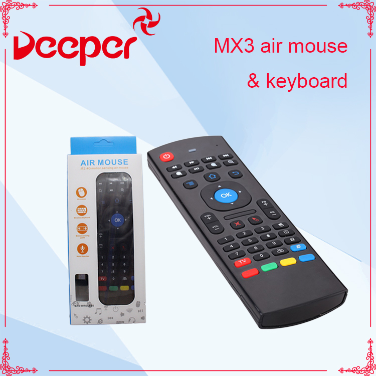 Original factory arabic keyboard mx3 air mouse for tv