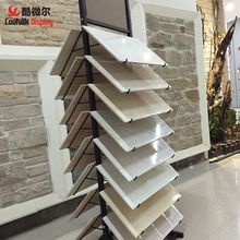 Removable tile display stand portable shelves porcelain