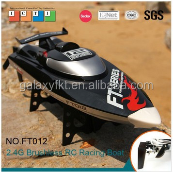 FT012 hot product 2.4G 4CH 48 km/h high speed brushless rc fishing bait boat