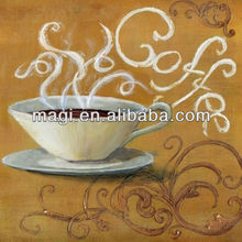 2013 Popular Wood Coffee Cup Oil Painting