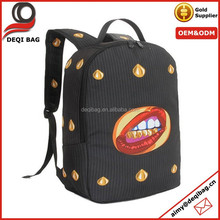 Sexy Lips fashion printing schoolbags students backpack bag