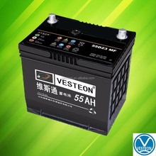 DIN 12V 55Ah small terminal car battery