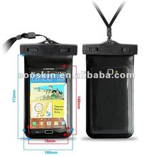 Swimming assistant Cooskin universal Waterproof phone pouch for galaxy note3