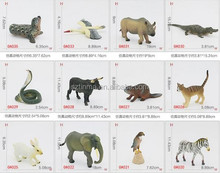5 inch pvc realistic wild animal toys for study