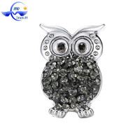 Yiwu Wholesale Owl Shaped Charm Press Alloy Snap Button Findings For Jewelry Making