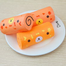 Wholesale Simulation Shokugan Food Chicken Rolls Squishy Slow Rising Toys For Childs