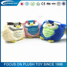 Hot sale China three color owl creative lifelike owl baby toy