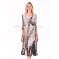 wholesale chiffon female fashion garments and tops pleated Women dress